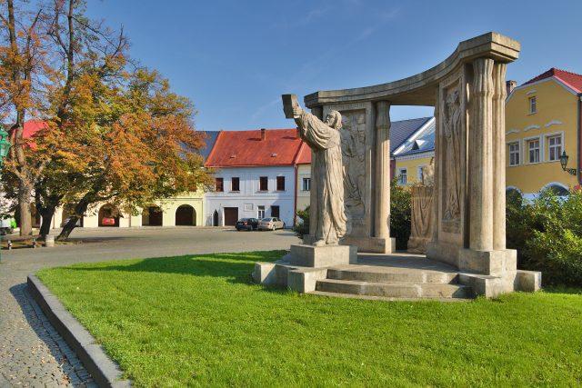 Pomník Jana Blahoslava, Horní náměstí, Přerov