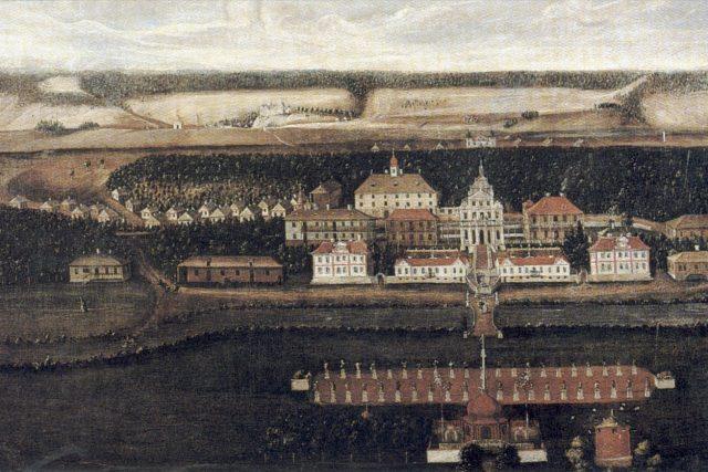 Kuks,  areál v době dokončení  (pohled k zámku) | foto: Wikimedia Commons,  CC0 1.0