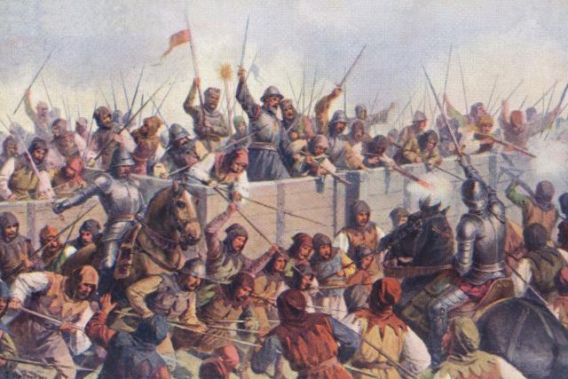 Josef Mathauser: Bitva u Lipan roku 1434 | foto: Josef Mathauser,  Wikimedia Commons,  CC0 1.0