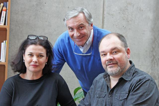 Martin a Martina Preissovi,  Jan Čenský   foto: Elena Horálková,  Český rozhlas