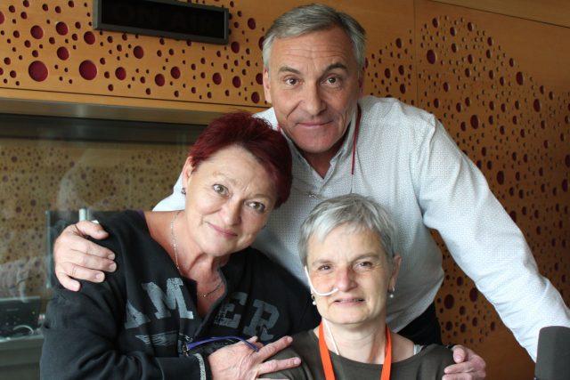Valerie Zawadská, Romana Skála-Rosenbaum a moderátor Jan Čenský