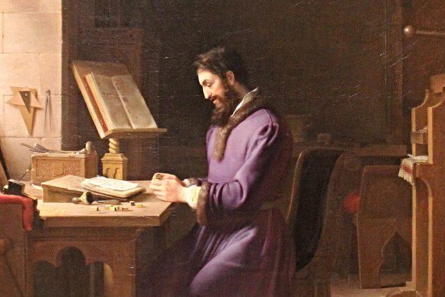 Johannes Gutenberg vynalézá knihtisk | foto: Jean-Antoine Laurent,  Wikimedia Commons,  CC0 1.0