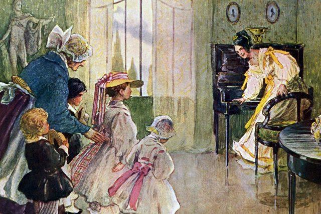 Ilustrace Adolfa Kašpara v knize Boženy Němcové Babička  (vydání z roku 1934) | foto: Adolf Kašpar,  Wikimedia Commons,  CC BY-SA 3.0