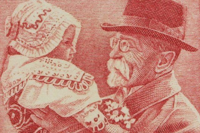 Výřez ze známky Československo dětem 1938: Měj úctu k duši dítětě