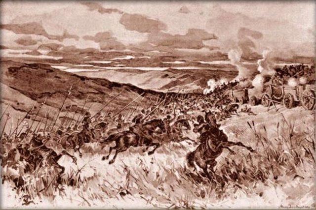 Adolf Liebscher: Porážka železných pánů u Sudoměře dne 25. března roku 1420 | foto: Wikimedia Commons,  CC0 1.0
