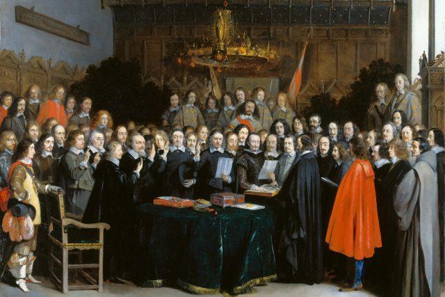 Diplomaté v Münsteru sjednávají vestfálský mír | foto: Wikimedia Commons,  CC0 1.0