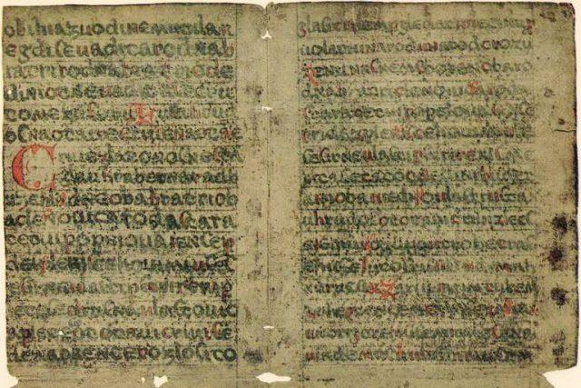 Rukopis Zelenohorský  (strany 2 a 7)   foto: autor neznámý,  Wikimedia Commons,  CC0 1.0