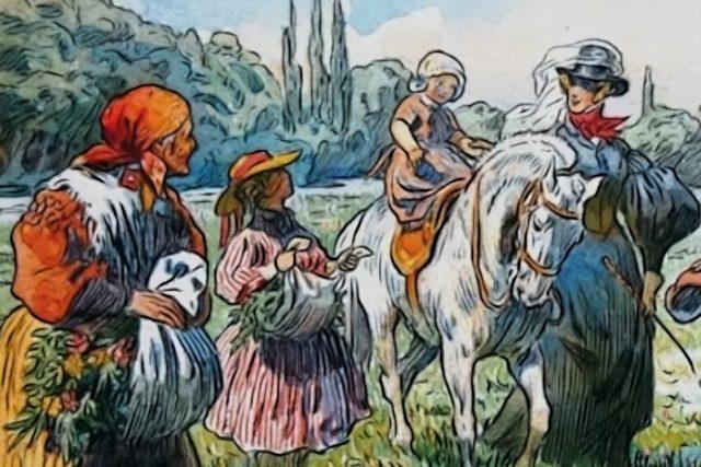 Adolf Kašpar: Jedna z ilustrací k Babičce Boženy Němcové (kolem roku 1903)