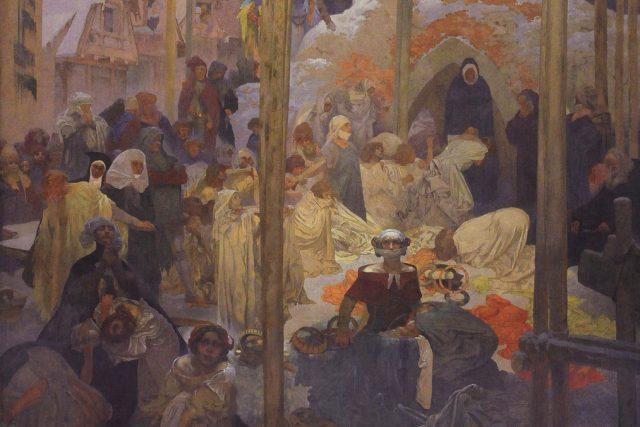 Alfons Mucha: Jan Milíč z Kroměříže  (Slovanská epopej) | foto: Alfons Mucha,  Wikimedia Commons,  CC0 1.0