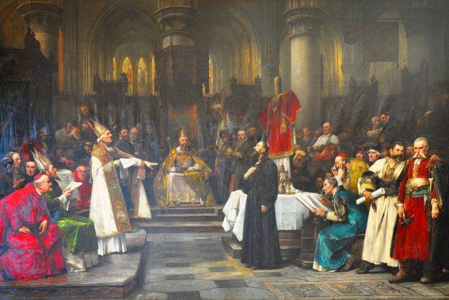 Václav Brožík: Mistr Jan Hus před Kostnickým koncilem | foto: Wikimedia Commons
