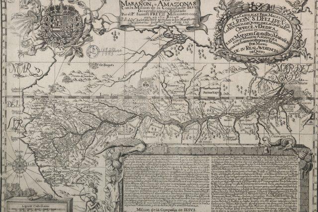 Fritzova mapa Amazonky – vydání z roku 1707 | foto: Wikimedia Commons,  CC0 1.0