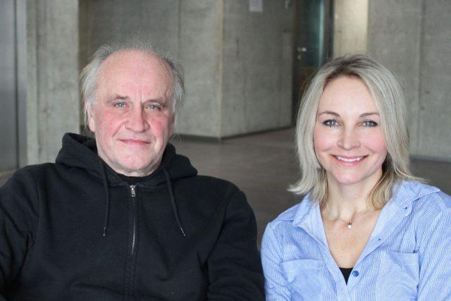 Michael Kocáb a moderátorka Jitka Novotná