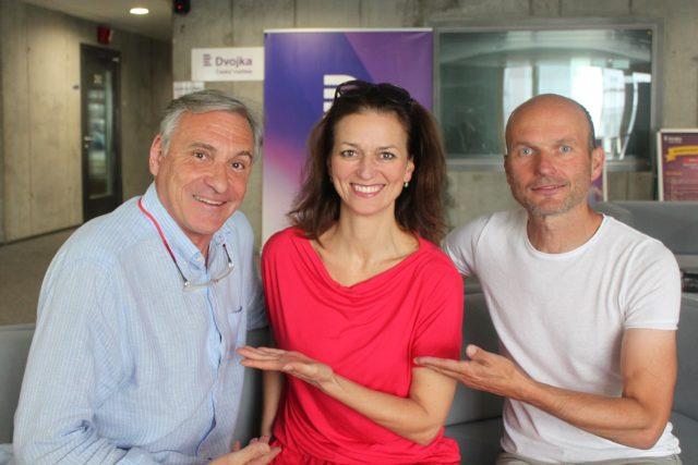 Adéla a Dalibor Gondikovi s moderátorem Janem Čenským