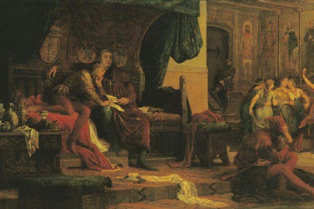 Mladý Ladislav Pohrobek a Ulrico de Celje