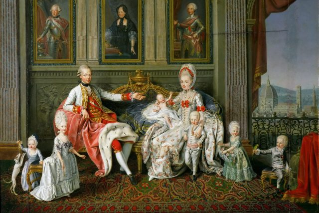Leopold s rodinou