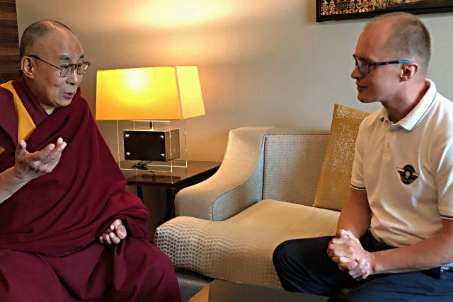 Dalajlama se setkal s Romanem Kramaříkem