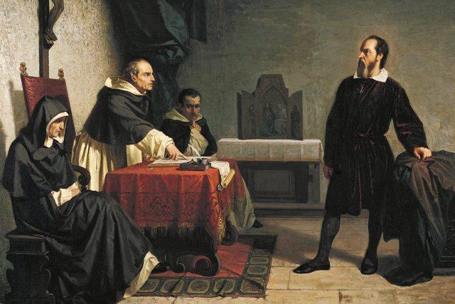 Cristiano Banti: Galileo Galilei před římskou inkvizicí