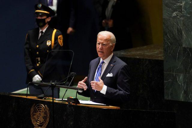 Joe Biden vystoupil na 76. Valném shromáždění Organizace spojených národů   foto: Kevin Lamarque,  Reuters