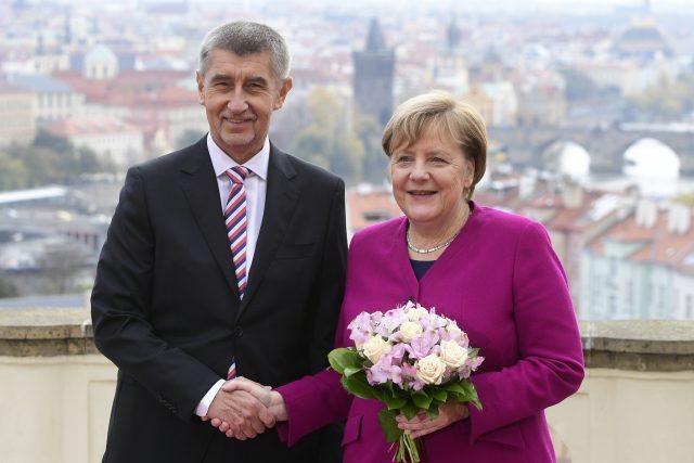 Premiér Andrej Babiš se v Praze setkal s německou kancléřkou Angelou Merkelovou | foto: Roman Vondrouš,  ČTK