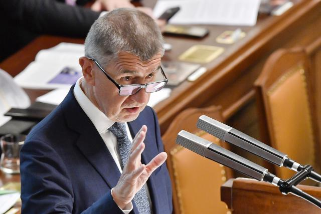 Premiér Andrej Babiš během svého projevu ve sněmovně