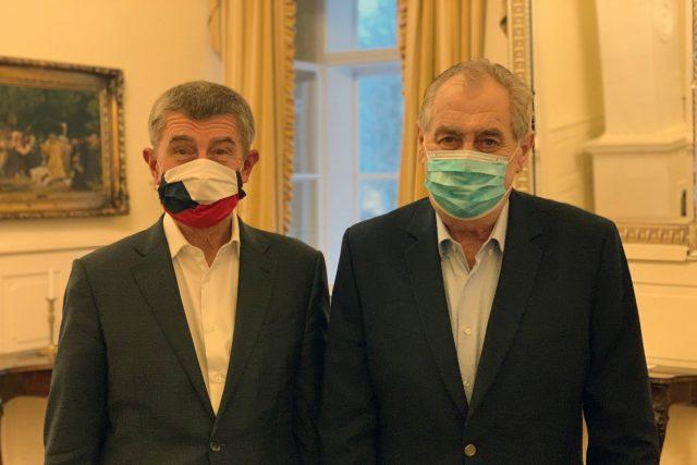 Andrej babiš a Miloš Zeman na setkání v Lánech