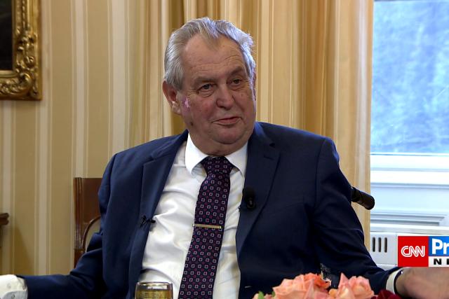 Prezident Miloš Zeman v pořadu Partie na TV Prima