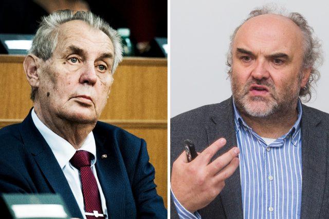 Prezident Miloš Zeman a ředitel Národní galerie Jiří Fajt